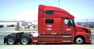 red 18 wheeler