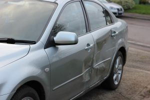 damaged car after minor accident