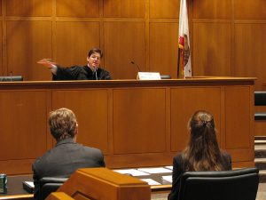 lawyers in a courtroom