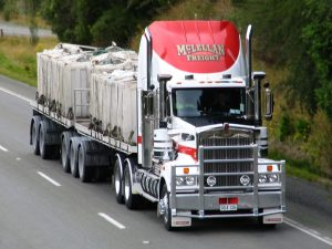 freight truck on freeway